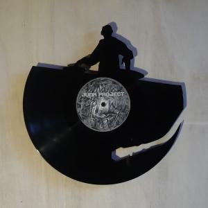 Disque vinyle d coup d coration vintage horloge dj for Decoration porte disque 33t