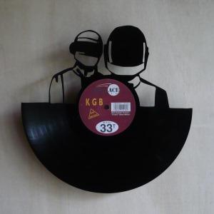 Disque vinyle d coup d coration vintage horloge daft punk for Decoration porte disque 33t