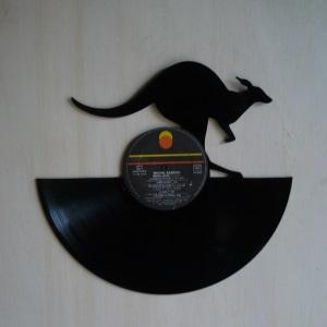 Disque vinyle d coup d coration vintage horloge kangourou for Decoration porte disque 33t
