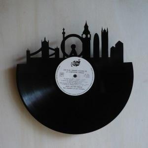 disque vinyle d coup d coration vintage horloge londres. Black Bedroom Furniture Sets. Home Design Ideas