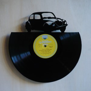 Disque vinyle d coup d coration vintage horloge cox for Decoration porte disque 33t