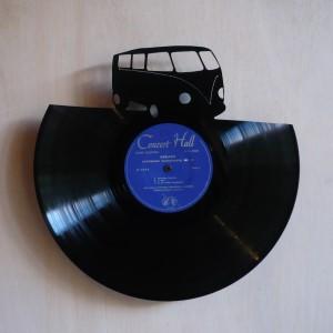 disque vinyle d coup d coration vintage horloge van. Black Bedroom Furniture Sets. Home Design Ideas