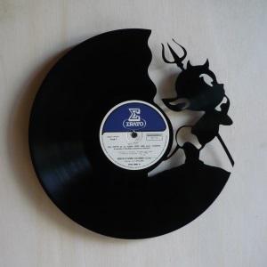Disque vinyle d coup d coration vintage horloge diablotin for Decoration porte disque 33t
