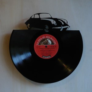 Disque vinyle d coup d coration vintage horloge coup sportif for Decoration porte disque 33t