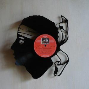 Disque vinyle d coup d coration vintage horloge corse for Decoration porte disque 33t