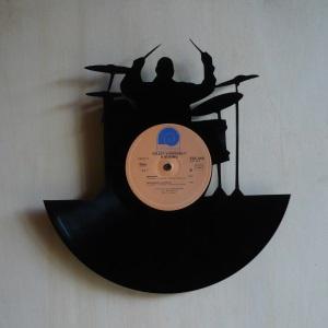 disque vinyle d coup d coration vintage horloge batterie. Black Bedroom Furniture Sets. Home Design Ideas