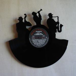 disque vinyle d coup d coration vintage horloge groupe de. Black Bedroom Furniture Sets. Home Design Ideas