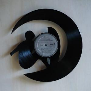 Disque vinyle d coup d coration vintage horloge voile for Decoration porte disque 33t