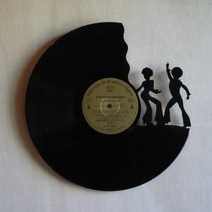 Disque vinyle d coup d coration vintage horloge disco for Decoration porte disque 33t